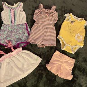 0-3m Summer Lot! 1-Juicy Couture 1- Calvin Klein!